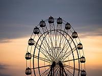 A large Ferris wheel on the Shoreline near Back Lieu, Vietnam