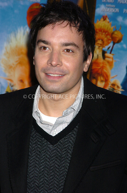 WWW.ACEPIXS.COM . . . . .  ....December 7, 2007, New York City....Jimmy Fallon attends the 'Arthur and the Invisibles' Premiere.....Please byline: AJ Sokalner - ACEPIXS.COM.... *** ***..Ace Pictures, Inc:  ..(212) 243-8787 or (646) 769 0430..e-mail: picturedesk@acepixs.com..web: http://www.acepixs.com