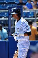 Staten Island Yankees outfielder Mason Williams #59 during a game against the State College Spikes at Richmond County Bank Ballpark at St. George on July 14, 2011 in Staten Island, NY.  Staten Island defeated State College 6-4.  Tomasso DeRosa/Four Seam Images