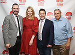 Jeremy Blocker, Heidi Schreck, Oliver Butler and James C. Nicola attends the 2019 Off Broadway Alliance Awards Reception at Sardi's on June 18, 2019 in New York City.