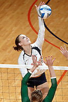 SAN ANTONIO, TX - SEPTEMBER 1, 2010: The Baylor University Bears vs. the University of Texas at San Antonio Roadrunners Women's Volleyball at the UTSA Convocation Center. (Photo by Jeff Huehn)