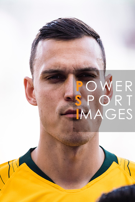 Trent Sainsbury of Australia is seen prior to the AFC Asian Cup UAE 2019 Group B match between Australia (AUS) and Jordan (JOR) at Hazza Bin Zayed Stadium on 06 January 2019 in Al Ain, United Arab Emirates. Photo by Marcio Rodrigo Machado / Power Sport Images