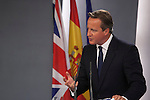 British Prime Minister David Cameron during a press conference in his visit to Moncloa Palace in Madrid, Spain. Spetember 04, 2015. (ALTERPHOTOS/Victor Blanco)