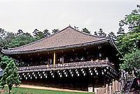 Nara:  Nigatsu (February) Hall, Todai Temple Precinct, 752; present structure, 1667. Photo '81.