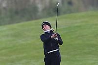 Mia Sandtorv (NOR) on the 1st fairway during Round 1 of the Irish Girls U18 Open Stroke Play Championship at Roganstown Golf &amp; Country Club, Dublin, Ireland. 05/04/19 <br /> Picture:  Thos Caffrey / www.golffile.ie