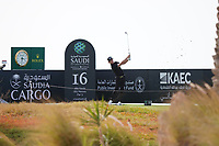 Sean Crocker (USA) on the 16th during Round 3 of the Saudi International at the Royal Greens Golf and Country Club, King Abdullah Economic City, Saudi Arabia. 01/02/2020<br /> Picture: Golffile | Thos Caffrey<br /> <br /> <br /> All photo usage must carry mandatory copyright credit (© Golffile | Thos Caffrey)