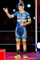 Nairo Quintana, winner of La Vuelta a España 2016 and Esteban Sanchez third position in Madrid. September 11, Spain. 2016. (ALTERPHOTOS/BorjaB.Hojas) NORTEPHOTO.COM