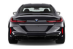 Straight rear view of 2020 BMW M8-Gran-Coupe Competition 4 Door Sedan Rear View  stock images