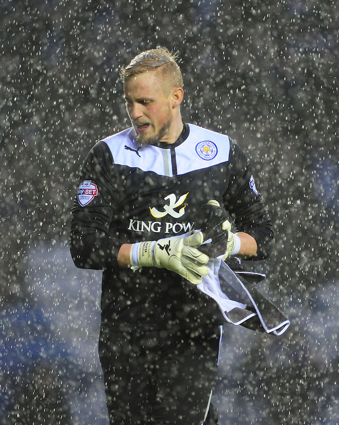 Leicester City's Kasper Schmeichel <br /> <br /> Photo by Chris Vaughan/CameraSport<br /> <br /> Football - The Football League Sky Bet Championship - Leicester City v Middlesbrough - Saturday 25th January 2014 - The King Power Stadium - Leicester<br /> <br /> &copy; CameraSport - 43 Linden Ave. Countesthorpe. Leicester. England. LE8 5PG - Tel: +44 (0) 116 277 4147 - admin@camerasport.com - www.camerasport.com