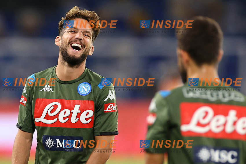 Dries Mertens of SSC Napoli smiles prior to the Serie A football match between SSC  Napoli and US Sassuolo at stadio San Paolo in Naples ( Italy ), July 25th, 2020. Play resumes behind closed doors following the outbreak of the coronavirus disease. <br /> Photo Cesare Purini / Insidefoto