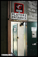 Stadium entrance door for players