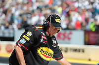 Jul. 31, 2011; Sonoma, CA, USA; NHRA funny car team owner Jim Dunn during the Fram Autolite Nationals at Infineon Raceway. Mandatory Credit: Mark J. Rebilas-