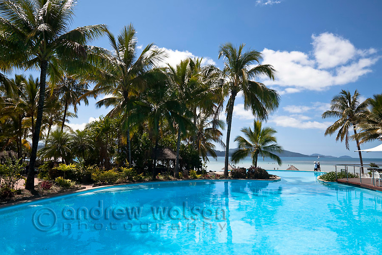 Swimming pool at Hamilton Island resort.  Hamilton Island, Whitsundays, Queensland, Australia
