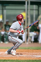 February 22, 2009:  Outfielder T.C. Knipp (39) of Indiana University during the Big East-Big Ten Challenge at Naimoli Complex in St. Petersburg, FL.  Photo by:  Mike Janes/Four Seam Images