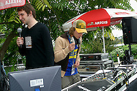DJs help welcome new students on moving in day , University of Surrey.