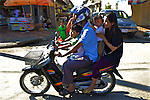 Family of 4 On Motorbike