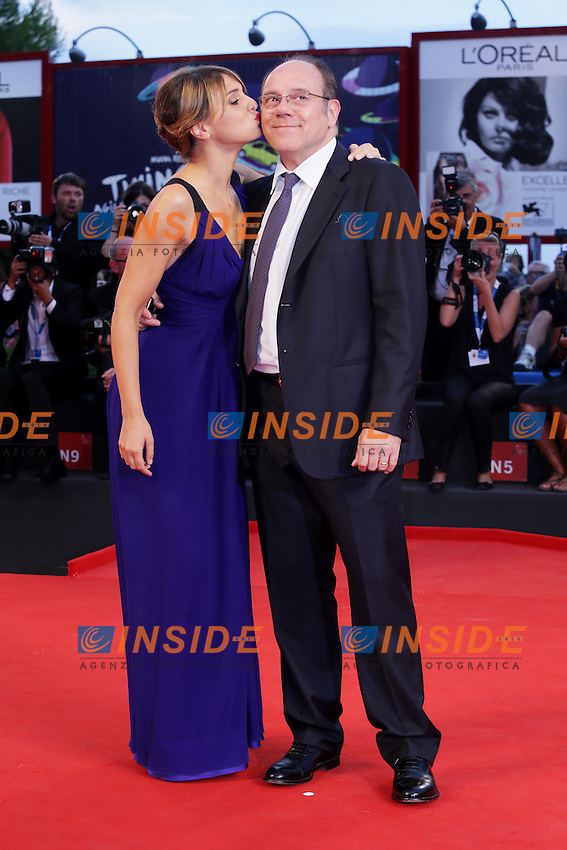 Venice, Italy - August 31: Paola Cortellesi and Carlo Verdone attend the 'Hungry Hearts' premiere at Palazzo Del Cinema, during the 71st Venice Film Festival on August 31, 2014 in Venice, Italy. (Photo by Mark Cape/Inside)<br /> Venezia, Italy - Agosto 31: Paola Cortellesi e Carlo Verdone presente al premiere di 'Hungry Hearts' al Palazzo Del Cinama, durante del 71st Venice Film Festival. Agosto 31, 2014 Venezia, Italia. (Photo by Mark Cape/Inside Foto)