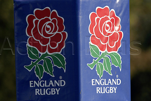15 November 2005: England Red Rose logo at England rugby training session at Pennyhill Park Hotel, Bagshot Photo: Neil Tingle/Actionplus....051115 rugby