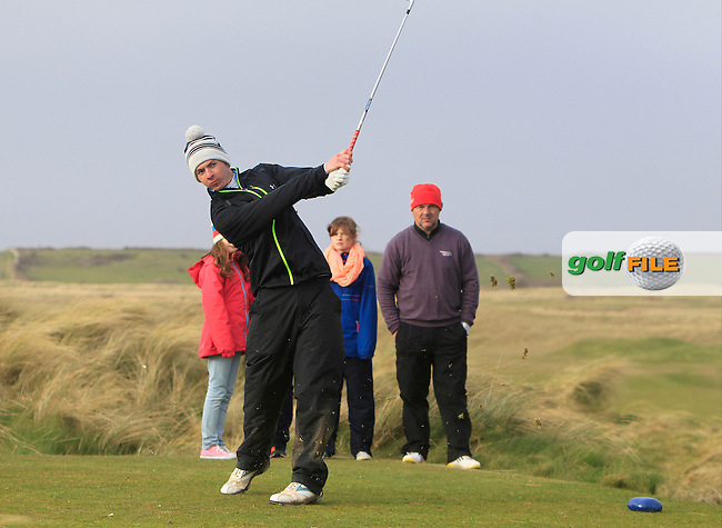 William Russell (Clandeboye) during the 36 hole stroke play qualifying on April 3rd 2015 for the 2015 West of Ireland Open Championship, Co. Sligo, Golf Club, Rosses Point, Sligo, Ireland.<br />