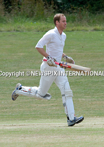 """PRINCE WILLIAM.swaped his polo pony for cricket whites when he batted in a beer match for the Oxfordshire pub run by his old pal Archie Orr-Ewing. The Prince played against a team led by another royal friend, Hugh van Cutsem. William and girlfriend Kate Middleton stayed at the pub, the King's Head Inn, Bledington, after Van Cutsem's wedding five year ago_17/07/2010.Mandatory Photo Credit: ©Dias/Newspix International..**ALL FEES PAYABLE TO: """"NEWSPIX INTERNATIONAL""""**..PHOTO CREDIT MANDATORY!!: NEWSPIX INTERNATIONAL(Failure to credit will incur a surcharge of 100% of reproduction fees)..IMMEDIATE CONFIRMATION OF USAGE REQUIRED:.Newspix International, 31 Chinnery Hill, Bishop's Stortford, ENGLAND CM23 3PS.Tel:+441279 324672  ; Fax: +441279656877.Mobile:  0777568 1153.e-mail: info@newspixinternational.co.uk"""