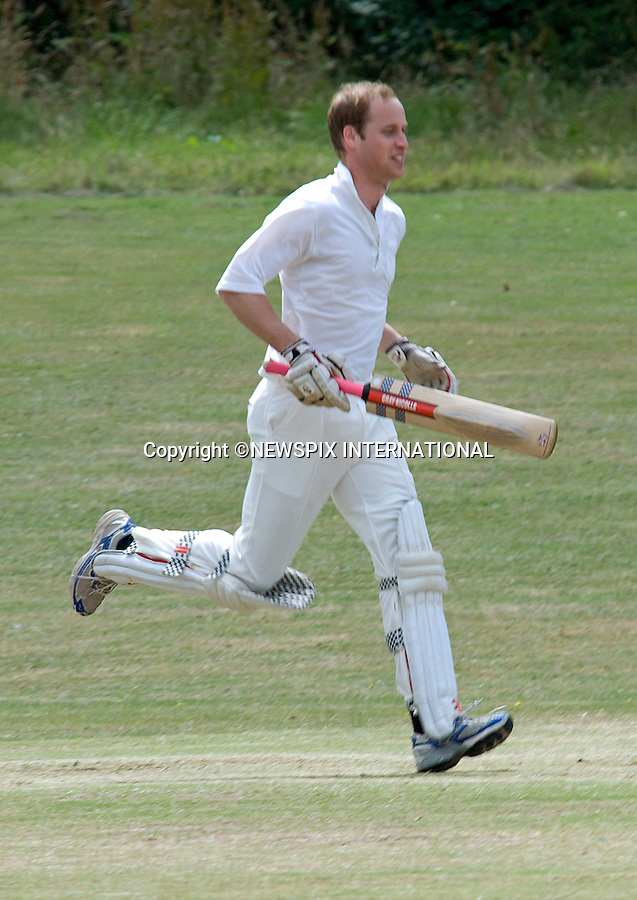 "PRINCE WILLIAM.swaped his polo pony for cricket whites when he batted in a beer match for the Oxfordshire pub run by his old pal Archie Orr-Ewing. The Prince played against a team led by another royal friend, Hugh van Cutsem. William and girlfriend Kate Middleton stayed at the pub, the King's Head Inn, Bledington, after Van Cutsem's wedding five year ago_17/07/2010.Mandatory Photo Credit: ©Dias/Newspix International..**ALL FEES PAYABLE TO: ""NEWSPIX INTERNATIONAL""**..PHOTO CREDIT MANDATORY!!: NEWSPIX INTERNATIONAL(Failure to credit will incur a surcharge of 100% of reproduction fees)..IMMEDIATE CONFIRMATION OF USAGE REQUIRED:.Newspix International, 31 Chinnery Hill, Bishop's Stortford, ENGLAND CM23 3PS.Tel:+441279 324672  ; Fax: +441279656877.Mobile:  0777568 1153.e-mail: info@newspixinternational.co.uk"