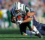 2 November 2008:  New York Jets' tight end Dustin Keller (81) makes a 15 yard gain in the third quarter against the Buffalo Bills at Ralph Wilson Stadium in Orchard Park, NY. The Jets defeated the Bills 26-17 improving their record to 5 and 3 for the season...Mandatory Photo Credit: Ed Wolfstein Photo