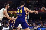 Turkish Airlines Euroleague 2018/2019. <br /> Regular Season-Round 18.<br /> FC Barcelona Lassa vs Panathinaikos Opap Athens: 79-68.<br /> Georgios Papagiannis vs Ante Tomic.