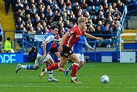 Barnsley's midfielder Brad Potts (20) spreads play during the Sky Bet Championship match between Sheff Wednesday and Barnsley at Hillsborough, Sheffield, England on 28 October 2017. Photo by Stephen Buckley / PRiME Media Images.