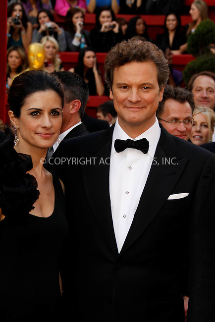 WWW.ACEPIXS.COM . . . . .  ....March 7 2010, Hollywood, CA....Colin Firth and wife Livia Giuggioli at the 82nd Annual Academy Awards held at Kodak Theatre on March 7, 2010 in Hollywood, California.....Please byline: Z10-ACE PICTURES... . . . .  ....Ace Pictures, Inc:  ..Tel: (212) 243-8787..e-mail: info@acepixs.com..web: http://www.acepixs.com
