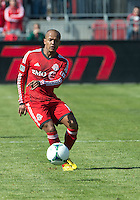 30 March 2013: Toronto FC forward Robert Earnshaw #10 in action during an MLS game between the LA Galaxy and Toronto FC at BMO Field in Toronto, Ontario Canada..The game ended in a 2-2 draw..