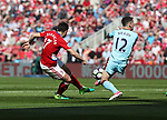 Antonio Barragan of Middlesbrough strikes the ball towards Robbie Brady of Burnley during the Premier League match at the Riverside Stadium, Middlesbrough. Picture date: April 8th, 2017. Pic credit should read: Jamie Tyerman/Sportimage