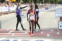 SAO PAULO, SP, 17.05.2015 -  Chegados dos vencedores da  XXI Maratona Internacional de São Paulo, na manhã deste domingo dia 17,  com largada iniciada no Obelisco do Parque do Ibirapuera. Foto Amauri Nehn/Brazil Photo Press