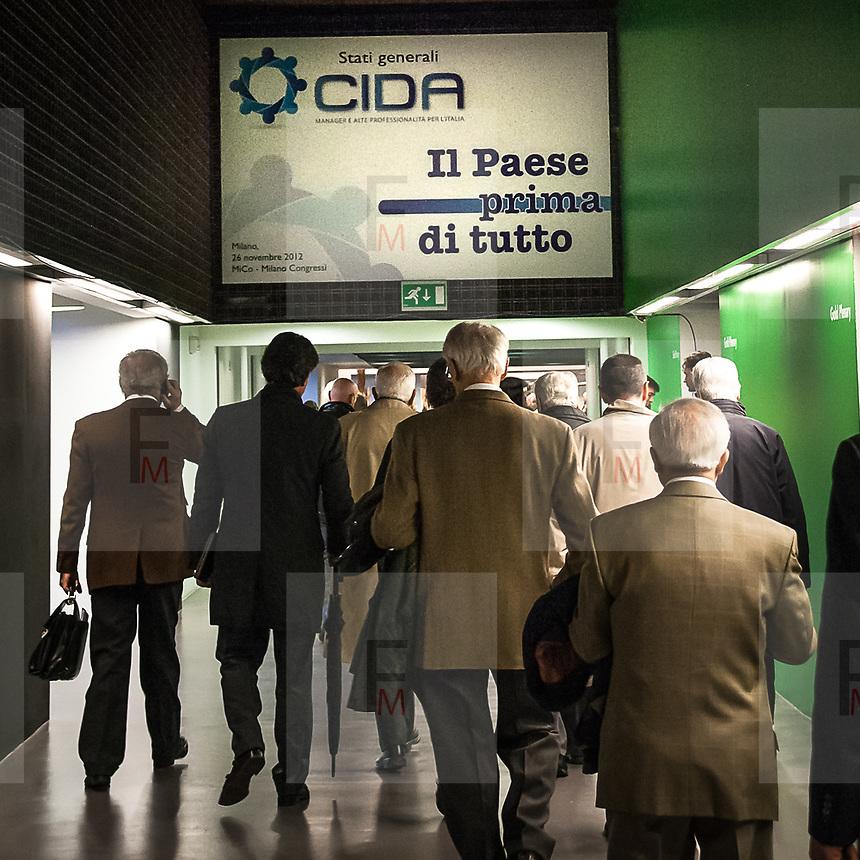 Incontro degli stati Generali organizzato dalla  Cida: Confederazione sindacale a rappresentare dirigenti, quadri e professionisti  di alta professionalità dei settori pubblico e privato.