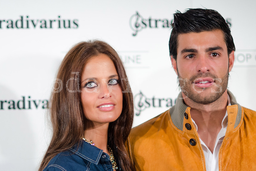 "Miguel Torres and his girlfriend at Stradivarius store for the collection ""Fiesta'12 party  in Madrid"