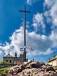 Święty Krzyż, 02-05-2019. Klasztor Misjonarzy Oblatów Maryi Niepokalanej Sanktuarium Relikwii Krzyża Świętego. Sanktuarium znajduje się na Świętym Krzyżu (Łysej Górze) na niższym wierzchołku Łyśca w Górach Świętokrzyskich. Jest to najstarsze polskie sanktuarium.