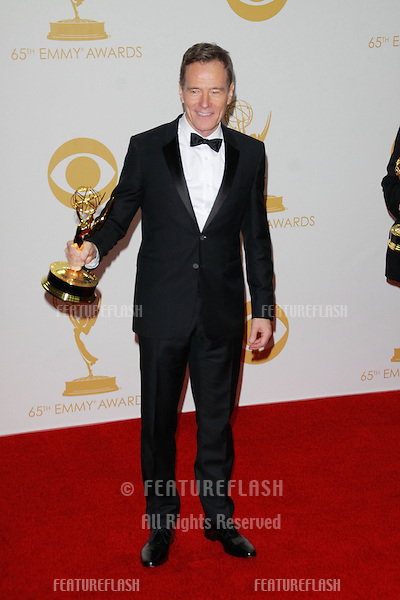 Bryan Cranston at the 65th Primetime Emmy Awards at the Nokia Theatre, LA Live.<br /> September 22, 2013  Los Angeles, CA<br /> Picture: Featureflash
