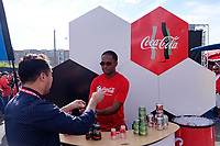 Harrison, NJ - Friday Sept. 01, 2017: Coca-Cola prior to a 2017 FIFA World Cup Qualifier between the United States (USA) and Costa Rica (CRC) at Red Bull Arena.