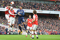 Pablo Mari of Arsenal FC heads clear during Arsenal vs West Ham United, Premier League Football at the Emirates Stadium on 7th March 2020