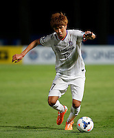 Japan's Sanfrecce Hiroshima Hyungjin Park during his AFC Champions League match against Central Coast Mariners in Gosford, near Sydney, March 11, 2014. VIEWPRESS/Daniel Munoz EDITORIAL USE ONLY