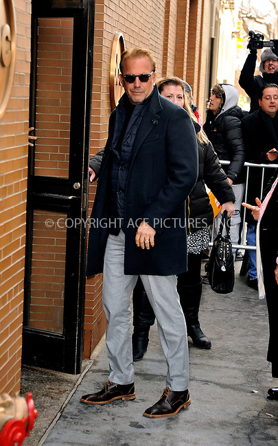 WWW.ACEPIXS.COM<br /> <br /> January 29 2015, New York Ciuty<br /> <br /> Actor Kevin Kostner made an appearance at 'The View' on January 29 2015 in New York City<br /> <br /> By Line: Curtis Means/ACE Pictures<br /> <br /> <br /> ACE Pictures, Inc.<br /> tel: 646 769 0430<br /> Email: info@acepixs.com<br /> www.acepixs.com
