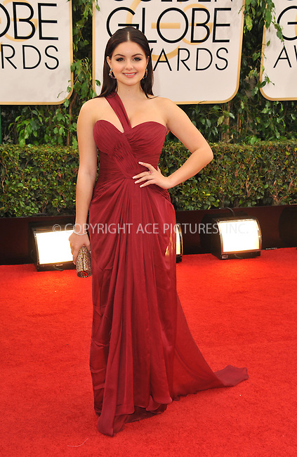 WWW.ACEPIXS.COM<br /> <br /> Janaury 12 2014, LA<br /> <br /> Ariel Winter arriving at the 71st Annual Golden Globe Awards held at The Beverly Hilton Hotel on January 12, 2014 in Beverly Hills, California.<br /> <br /> By Line: Peter West/ACE Pictures<br /> <br /> <br /> ACE Pictures, Inc.<br /> tel: 646 769 0430<br /> Email: info@acepixs.com<br /> www.acepixs.com