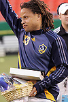 Sep 27 2007:  Prior to the match Cobi Jones (13) of the Galaxy was recognized by the Wizards for his contribution to MLS and the USA Mens National Team.  The MLS Kansas City Wizards were defeated by the visiting Los Angeles Galaxy 1-0 at Arrowhead Stadium in Kansas City, Missouri, in a regular season league soccer match.