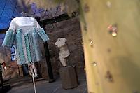 Italo Marseglia<br /> Roma 03-04-2016 Terme di Diocleziano. Mostra 'In Acqua: H2O molecole di creativita'. Decine di stilisti hanno creato, per l'occasione, abiti, accessori e gioielli che richiamano l'acqua.<br /> Diocleziano Thermae. Exhibition 'In water: H2O molecules of creativity'.Tens of famous stylists created dresses, accessories and jewels that recall water.<br /> Photo Samantha Zucchi Insidefoto