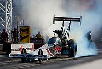 Nov 1, 2019; Las Vegas, NV, USA; NHRA top fuel driver Billy Torrence during qualifying for the Dodge Nationals at The Strip at Las Vegas Motor Speedway. Mandatory Credit: Mark J. Rebilas-USA TODAY Sports
