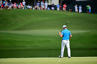 Zach Johnson (USA) turns his back on his missed birdie attempt on 17 during Saturday's round 3 of the PGA Championship at the Quail Hollow Club in Charlotte, North Carolina. 8/12/2017.<br /> Picture: Golffile | Ken Murray<br /> <br /> <br /> All photo usage must carry mandatory copyright credit (&copy; Golffile | Ken Murray)