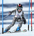 LEAD, SD - JANUARY 31, 2016 -- Gwendalyn Thompson works through the slalom in the U12 category during the 2016 USSA Northern Division Ski Races at Terry Peak Ski Area near Lead, S.D. Sunday. (Photo by Richard Carlson/dakotapress.org)