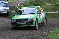 Tom Hynd / Sue Hynd at Junction 6, on Special Stage 1 Craigvinean in the Colin McRae Forest Stages Rally 2012, Round 8 of the RAC MSA Scotish Rally Championship which was organised by Coltness Car Club and based in Aberfeldy on 5.10.12.