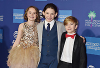PALM SPRINGS, CA - JANUARY 03: (L-R) Pixie Davies, Nathanael Saleh and Joel Dawson attend the 30th Annual Palm Springs International Film Festival Film Awards Gala at Palm Springs Convention Center on January 3, 2019 in Palm Springs, California.<br /> CAP/ROT/TM<br /> ©TM/ROT/Capital Pictures