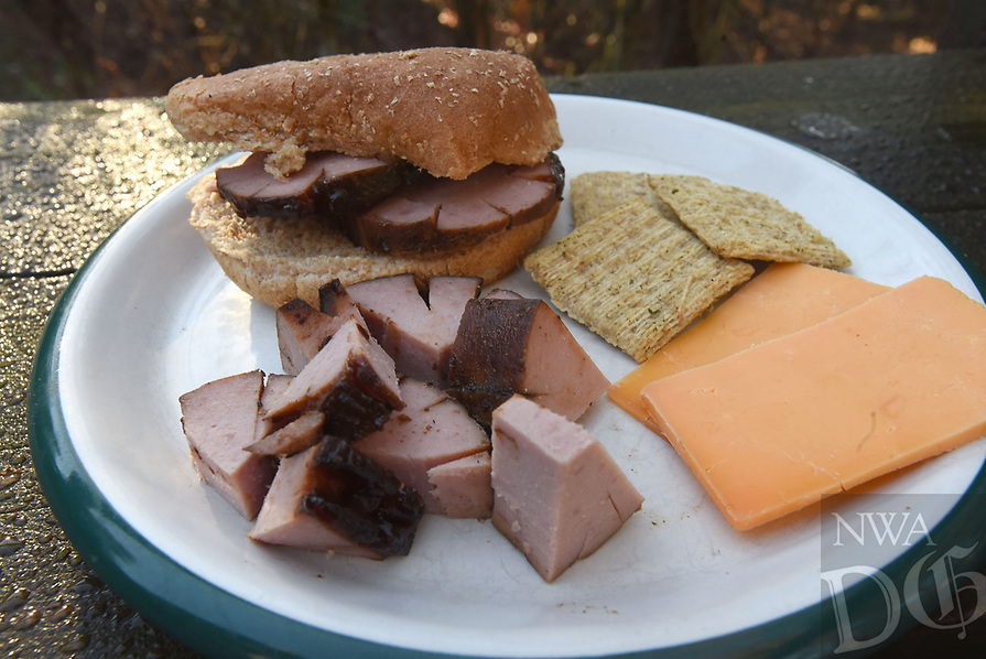 NWA Democrat-Gazette/FLIP PUTTHOFF <br /> Chunks of smoked bologna make a fine snack treat, or a sandwich of sliced smoked bologna is haute cuisine indeed. A bird-watching trip in Oklahoma led finding the delicacy at a country store, but it's easy to make your own smoked bologna at home.