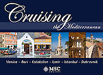 Cruising the Mediterrannean: Venice, Bari, Katakolon, Izmir, Istanbul, Dubrovnik - Souvenir pictorial book, 80 pages, hard cover with full colour images that sell onboard vessels operated by MSC Cruises and follow the specific itinerary. Text in English, Italian, French, German, Spanish.<br /> To order this book please click on this link: https://www.widescenes.com/product/book-venice-bari-katakolon-izmir-istanbul-dubrovnik/